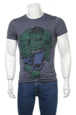 Ανδρικό t-shirt Marvel, Μέγεθος S, Χρώμα Μπλέ, 50% βαμβάκι, 50% πολυεστέρας, Τιμή 14,69€