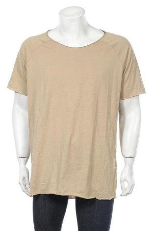 Ανδρικό t-shirt Review, Μέγεθος XL, Χρώμα  Μπέζ, Βαμβάκι, Τιμή 11,21€