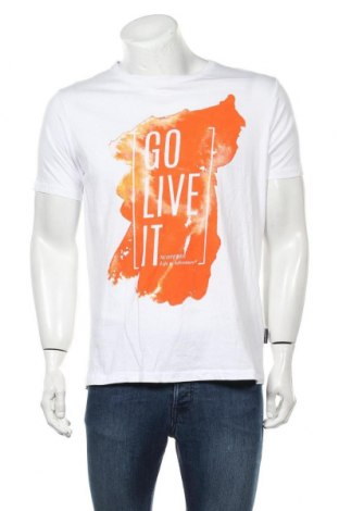 Tricou de bărbați Scotfree, Mărime XL, Culoare Alb, Bumbac, Preț 64,15 Lei