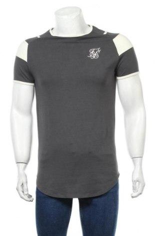 Ανδρικό t-shirt SikSilk, Μέγεθος XS, Χρώμα Γκρί, 95% βαμβάκι, 5% ελαστάνη, Τιμή 15,08€