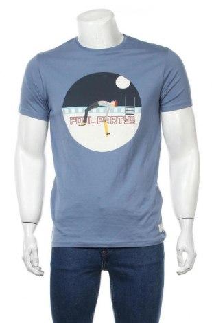 Ανδρικό t-shirt Springfield, Μέγεθος M, Χρώμα Μπλέ, 100% βαμβάκι, Τιμή 11,21€