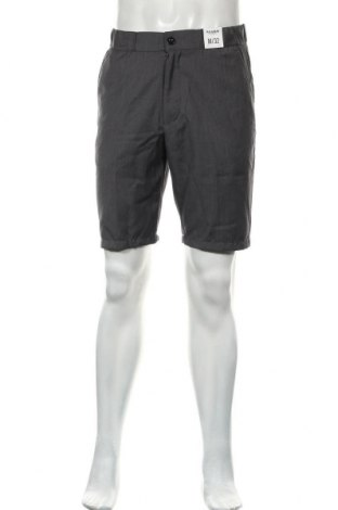 Ανδρικό κοντό παντελόνι Pull&Bear, Μέγεθος M, Χρώμα Γκρί, 82% πολυεστέρας, 18% βισκόζη, Τιμή 13,92€