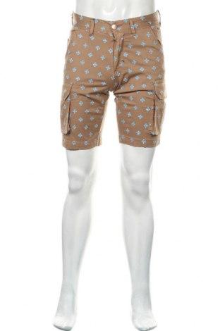 Мъжки къс панталон SUN68, Размер S, Цвят Бежов, 98% памук, 2% еластан, Цена 18,45лв.