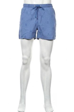 Ανδρικό κοντό παντελόνι Scalpers, Μέγεθος M, Χρώμα Μπλέ, 52% βαμβάκι, 48% πολυαμίδη, Τιμή 30,54€