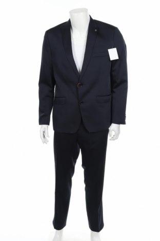 Мъжки костюм Bruno Banani, Размер L, Цвят Син, 84% полиестер, 14% вискоза, 2% еластан, Цена 67,25лв.