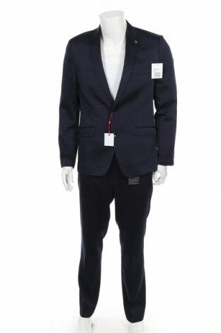 Costum de bărbați Bruno Banani, Mărime L, Culoare Albastru, 84% poliester, 14% viscoză, 2% elastan, Preț 247,76 Lei