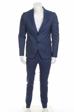 Ανδρικό κοστούμι Conbipel, Μέγεθος M, Χρώμα Μπλέ, 76% πολυεστέρας, 23% βισκόζη, 1% ελαστάνη, Τιμή 107,86€