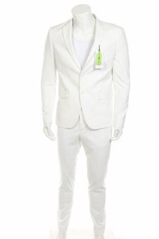 Ανδρικό κοστούμι Lindbergh, Μέγεθος L, Χρώμα Λευκό, 68% πολυεστέρας, 30% βισκόζη, 2% ελαστάνη, Τιμή 76,94€