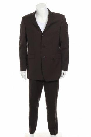 Pánský oblek  Toni Gard, Velikost M, Barva Hnědá, 100% vlna, Cena  410,00Kč