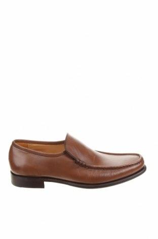 Мъжки обувки Barker, Размер 43, Цвят Кафяв, Естествена кожа, Цена 114,72лв.