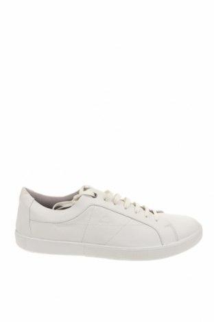 Ανδρικά παπούτσια Geox, Μέγεθος 46, Χρώμα Λευκό, Γνήσιο δέρμα, Τιμή 69,20€