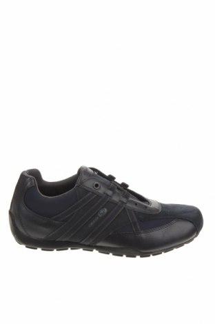 Ανδρικά παπούτσια Geox, Μέγεθος 42, Χρώμα Μπλέ, Κλωστοϋφαντουργικά προϊόντα, δερματίνη, φυσικό σουέτ, Τιμή 65,33€