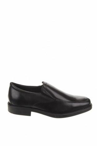 Ανδρικά παπούτσια Geox, Μέγεθος 42, Χρώμα Μαύρο, Γνήσιο δέρμα, Τιμή 84,67€