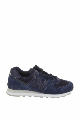 Ανδρικά παπούτσια New Balance, Μέγεθος 42, Χρώμα Μπλέ, Φυσικό σουέτ, κλωστοϋφαντουργικά προϊόντα, Τιμή 69,20€