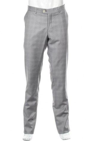 Мъжки панталон Bertoni, Размер L, Цвят Сив, 80% вълна, 10% полиамид, 10% други нишки, Цена 41,48лв.