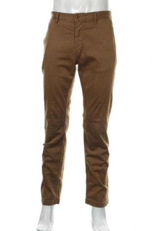 Мъжки панталон Boss Orange, Размер L, Цвят Кафяв, 97% памук, 3% еластан, Цена 52,02лв.