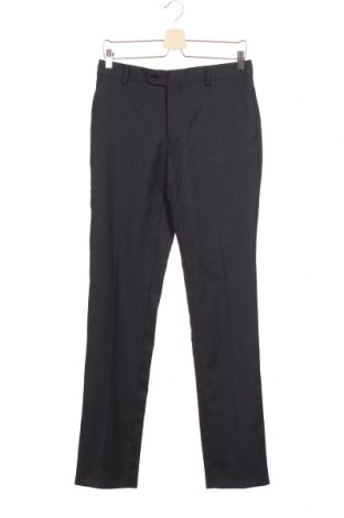 Мъжки панталон Cortefiel, Размер S, Цвят Син, 55% вълна, 43% полиестер, 2% еластан, Цена 19,75лв.