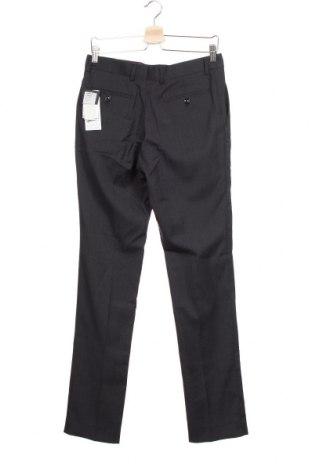 Мъжки панталон Cortefiel, Размер S, Цвят Син, 55% вълна, 43% полиестер, 2% еластан, Цена 17,28лв.