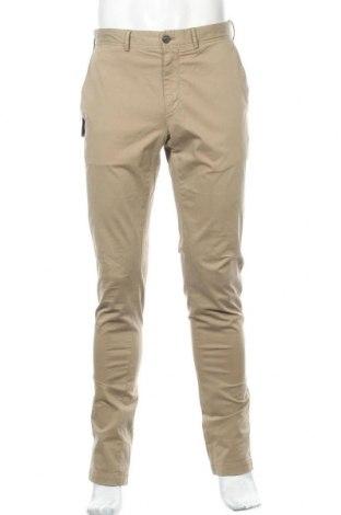 Мъжки панталон Faconnable, Размер M, Цвят Кафяв, 97% памук, 3% еластан, Цена 61,32лв.