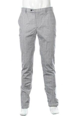 Pantaloni de bărbați Hackett, Mărime L, Culoare Gri, 98% bumbac, 2% elastan, Preț 180,10 Lei