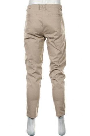 Мъжки панталон Lefties, Размер L, Цвят Бежов, 97% памук, 3% еластан, Цена 24,19лв.