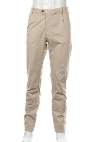 Ανδρικό παντελόνι PuroEGO, Μέγεθος L, Χρώμα  Μπέζ, 98% βαμβάκι, 2% ελαστάνη, Τιμή 16,29€
