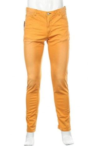Ανδρικό παντελόνι Springfield, Μέγεθος M, Χρώμα Κίτρινο, 98% βαμβάκι, 2% ελαστάνη, Τιμή 22,81€