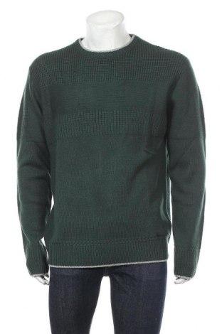 Ανδρικό πουλόβερ Gaudi Jeans, Μέγεθος XXL, Χρώμα Πράσινο, 80%ακρυλικό, 20% μαλλί, Τιμή 15,44€