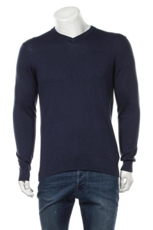 Ανδρικό πουλόβερ Pepe Jeans, Μέγεθος S, Χρώμα Μπλέ, 94% βαμβάκι, 3% μαλλί, 3% κασμίρι, Τιμή 15,29€