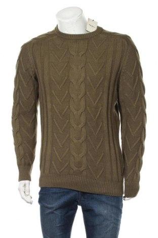 Ανδρικό πουλόβερ Pepe Jeans, Μέγεθος M, Χρώμα Πράσινο, 60% βαμβάκι, 40%ακρυλικό, Τιμή 17,66€