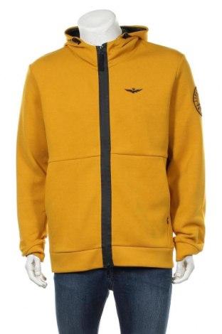 Мъжки суичър Aeronautica Militare, Размер XXL, Цвят Жълт, 80% памук, 16% полиестер, 4% еластан, Цена 92,00лв.