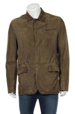 Pánská kožená bunda  Gimo's, Velikost L, Barva Zelená, Přírodní velur , Cena  2188,00Kč