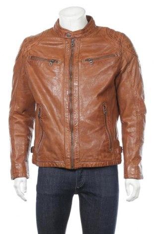 Pánská kožená bunda  Gipsy, Velikost XL, Barva Hnědá, Pravá kůže, Cena  2465,00Kč