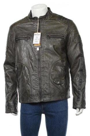 Мъжко кожено яке Koroshi, Размер XL, Цвят Зелен, Еко кожа, Цена 81,75лв.