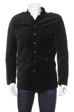 Pánský kabát  H&M, Velikost L, Barva Černá, 80% bavlna, 20% viskóza, Cena  733,00Kč