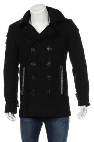 Ανδρικά παλτό Jack1t, Μέγεθος M, Χρώμα Μαύρο, 79% μαλλί, 21% πολυαμίδη, Τιμή 58,61€