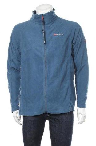 Ανδρική ζακέτα fleece Geographical Norway, Μέγεθος L, Χρώμα Μπλέ, Πολυεστέρας, Τιμή 31,20€