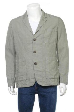 Ανδρικό σακάκι Hackett, Μέγεθος L, Χρώμα Πράσινο, 60% βαμβάκι, 40% λινό, Τιμή 30,59€