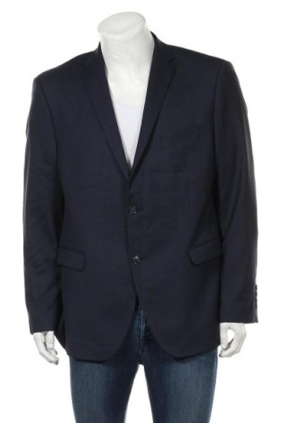 Мъжко сако Pierre Cardin, Размер XL, Цвят Син, 52% полиестер, 43% вълна, 5% еластан, Цена 41,22лв.