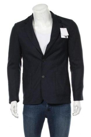 Ανδρικό σακάκι Sandro, Μέγεθος M, Χρώμα Μπλέ, 55% πολυεστέρας, 45% μαλλί, Τιμή 97,46€