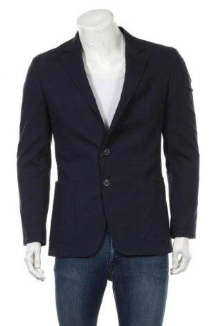 Ανδρικό σακάκι Scalpers, Μέγεθος M, Χρώμα Μπλέ, 98% βαμβάκι, 2% ελαστάνη, Τιμή 89,94€
