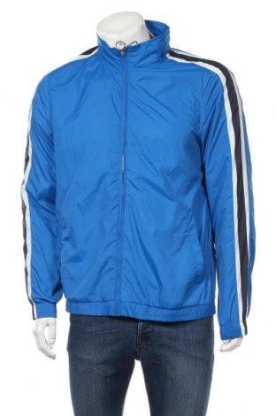 Ανδρικό αθλητικό μπουφάν Pull&Bear, Μέγεθος XL, Χρώμα Μπλέ, Πολυαμίδη, Τιμή 18,95€