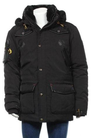 Мъжко яке Geographical Norway, Размер L, Цвят Черен, Полиестер, Цена 134,89лв.