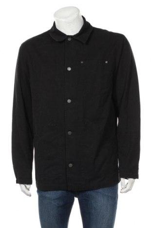 Ανδρικό μπουφάν Pull&Bear, Μέγεθος L, Χρώμα Μαύρο, Βαμβάκι, Τιμή 21,65€