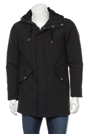 Мъжко яке Pull&Bear, Размер S, Цвят Черен, Полиестер, Цена 39,56лв.