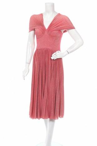 Φόρεμα Elisabetta Franchi, Μέγεθος M, Χρώμα Κόκκινο, 56% βισκόζη, 15% πολυεστέρας, 15% πολυαμίδη, 4% ελαστάνη, Τιμή 270,55€