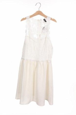 Φόρεμα H&M Divided, Μέγεθος XS, Χρώμα Λευκό, 96% πολυεστέρας, 4% ελαστάνη, Τιμή 16,05€