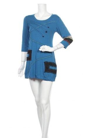 Рокля Lilia, Размер S, Цвят Син, 97% памук, 3% еластан, Цена 27,93лв.
