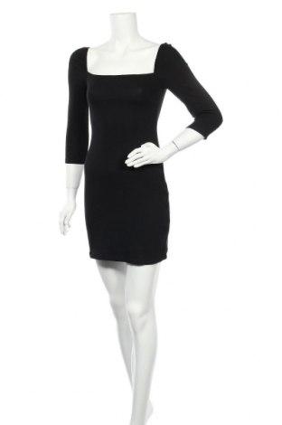 Φόρεμα Pull&Bear, Μέγεθος M, Χρώμα Μαύρο, 47% βαμβάκι, 46% μοντάλ, 7% ελαστάνη, Τιμή 23,97€