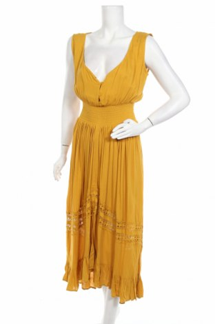 Φόρεμα Smash, Μέγεθος L, Χρώμα Κίτρινο, Βισκόζη, Τιμή 30,54€
